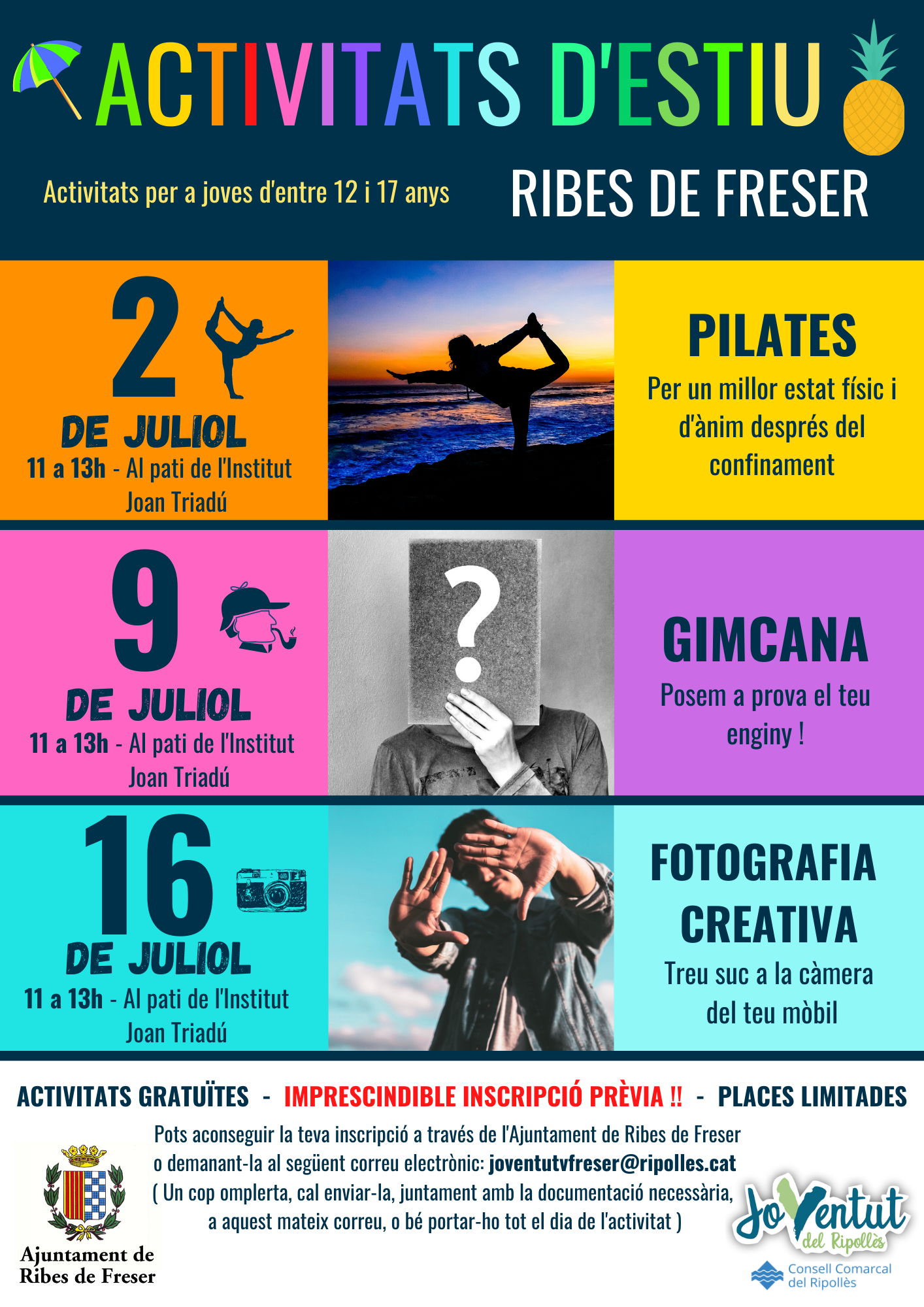 activitats joventut estiu 2020 Ribes de Freser