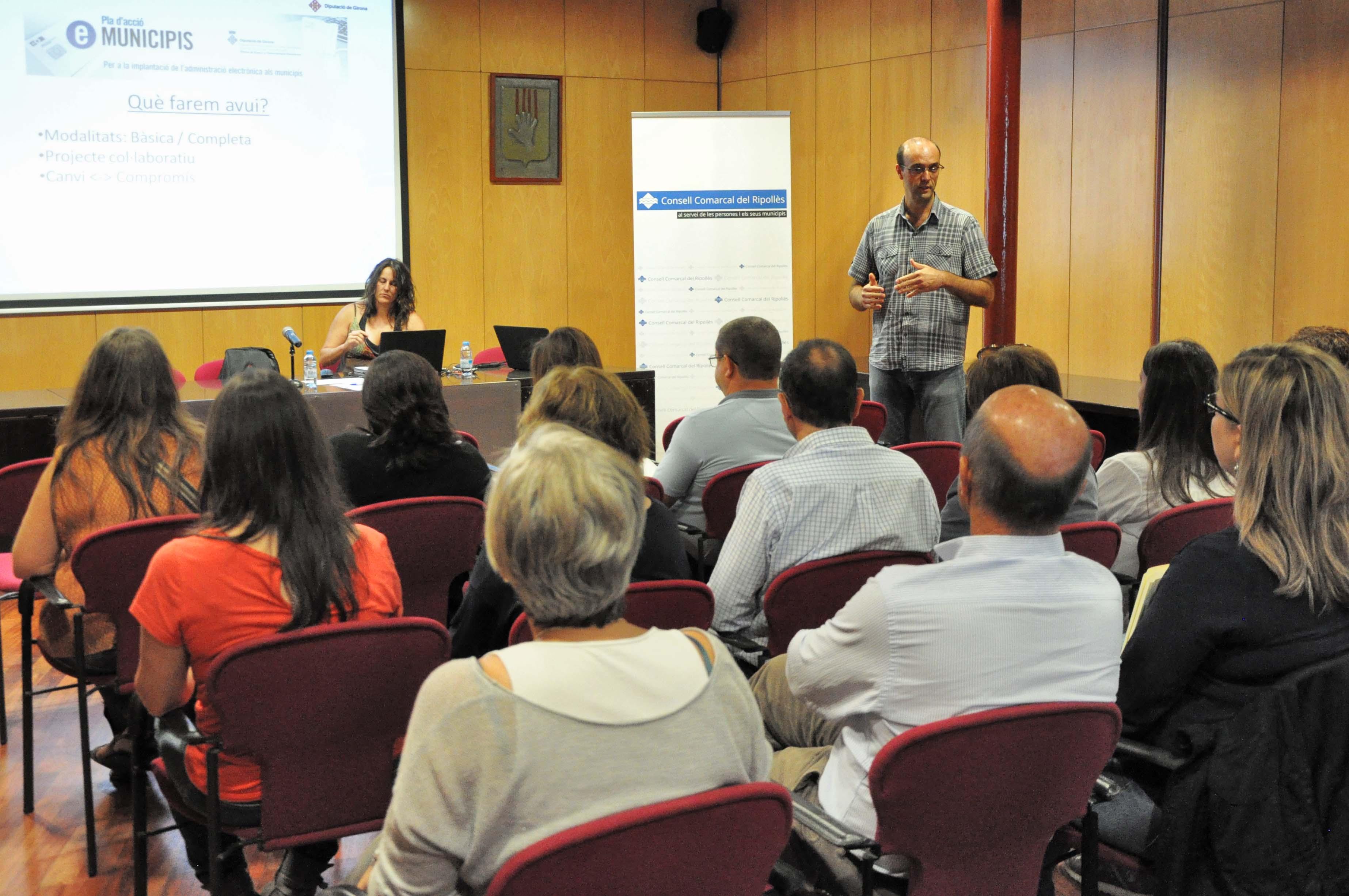 Sessió informativa per als municipis organitzada per la Diputació de Girona per al Ripollès, la Cerdanya i Vidrà.