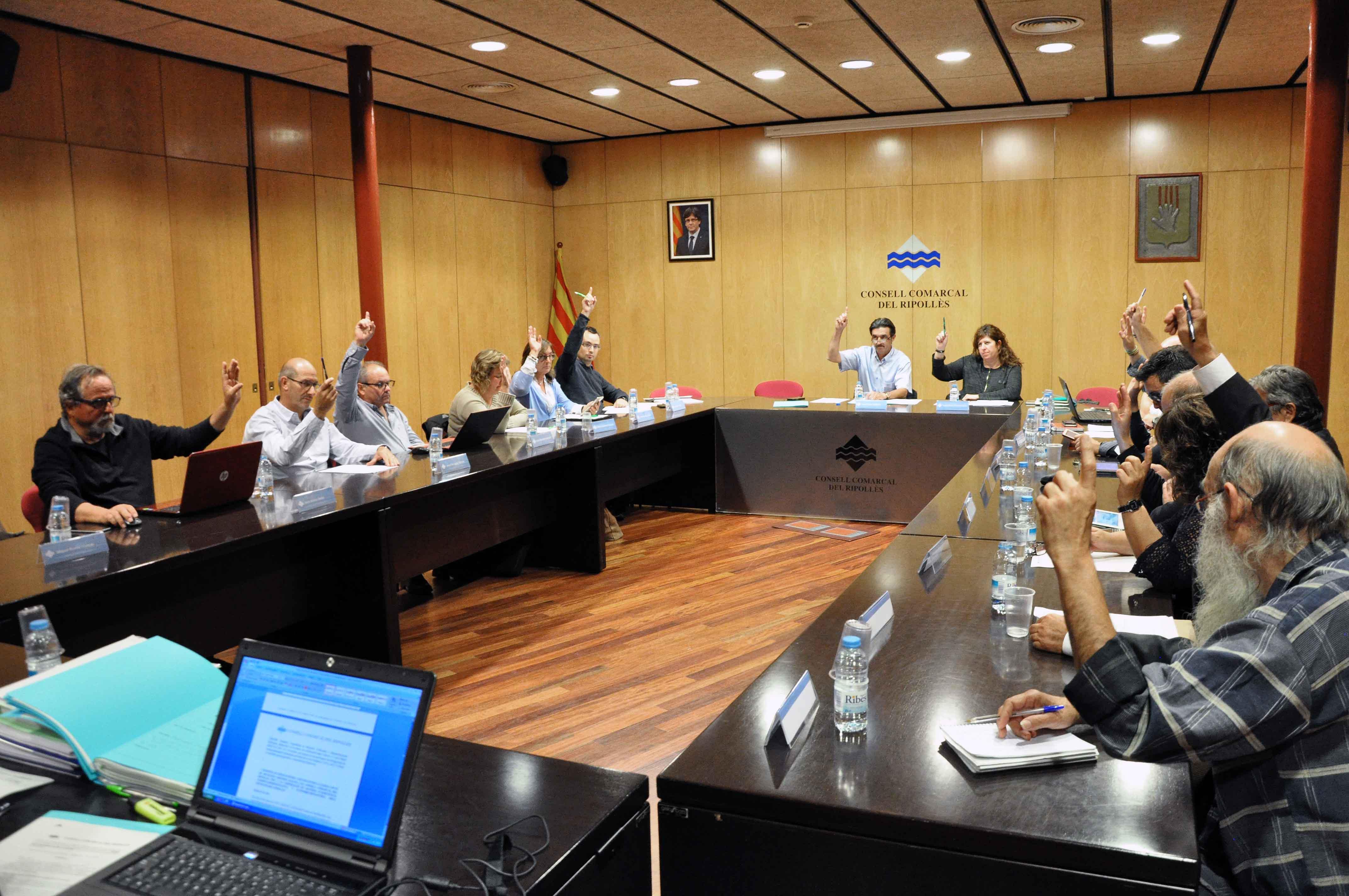 Ple ordinari del Consell Comarcal del Ripollès. 19 de stembre del 2017.
