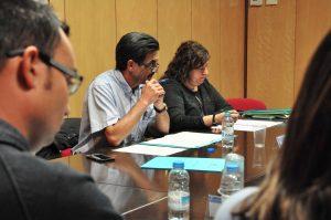 Eudald Picas i Imma Constans al ple del Consell Comarcal del Ripollès del 19 de setembre del 2017.