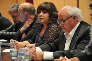 Carme Serrano i Carlos Fernández, al ple del Consell Comarcal del Ripollès del 19 de setembre del 2017.