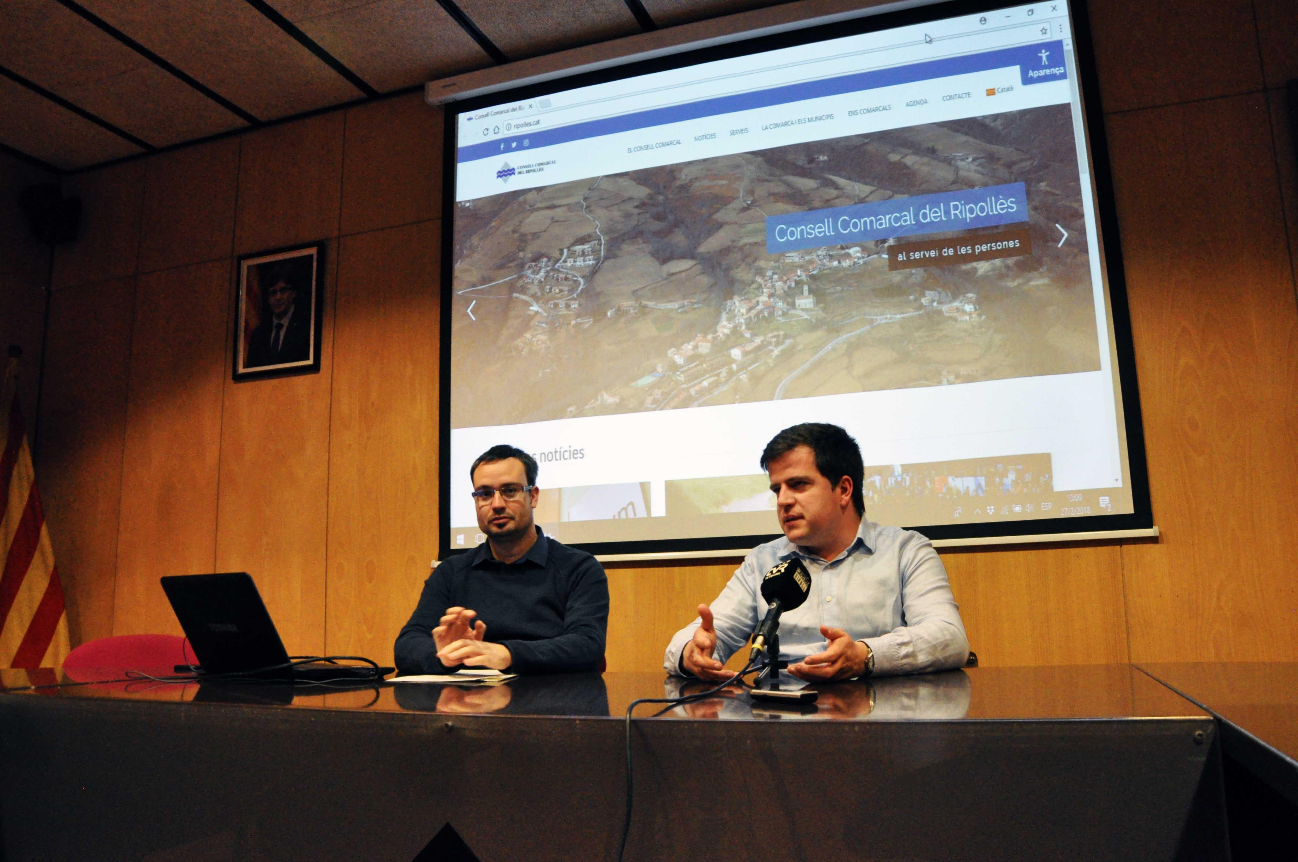 Presentació web nou, amb Joan Manso i Josep Coma.