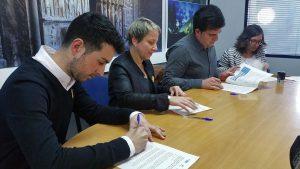 Conveni territori educador 2018 leader. Joan Manso, Rosa Vestit, Èric Sibina i Marta Parcerisas.