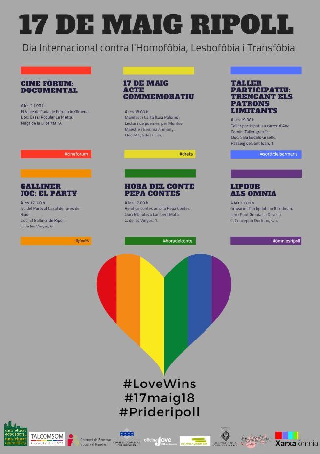 17 maig dia LGTBI Ripollès