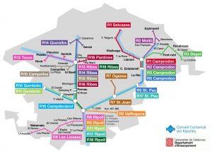 Mapa transport escolar Ripollès 2018-2019