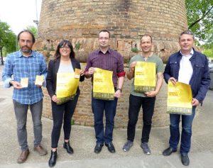 carnet camí oliba presentació. Ramon Roqué, Josep Coma, Laura Moreno.