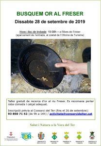 20190928 Taller de recerca d'or, Ribes de Freser