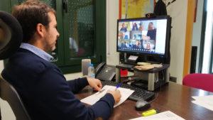 Joaquim Colomer, en una reunió telemàtica amb la Generalitat i els alcaldes