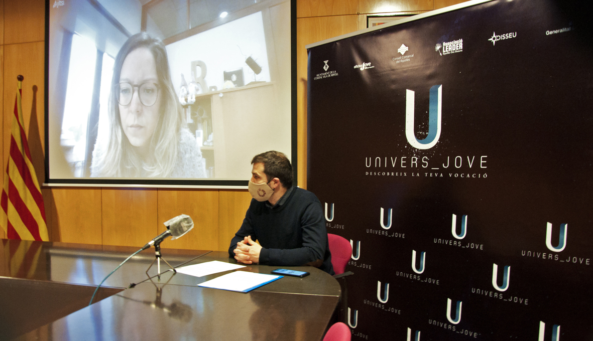 Joaquim Colomer i Mònica Santjaume, a la presentació de l'Univers Jove 2021