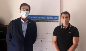 Joaquim Colomer i Pere Cornellà, al Consell Comarcal del Ripollès