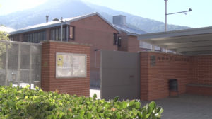 Entrada de l'Institut Abat Oliba de Ripoll